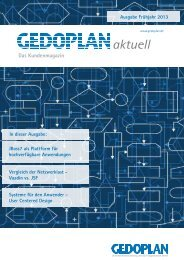 Ausgabe Frühjahr 2013 - Gedoplan