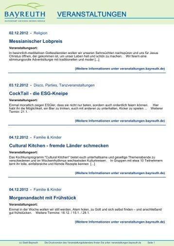 Anthroposophische Medizin - Stadt Bayreuth