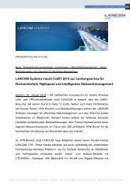 LANCOM Systems macht CeBIT 2013 zur Leistungsschau für ...