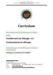 Fachberater/in Allergie - Deutsche Allergieakademie