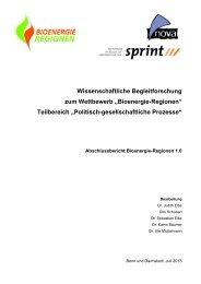 Abschlussbericht Bioenergie-Regionen 1.0