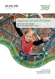 Regionen mit peb IN FORM - Plattform Ernährung und Bewegung