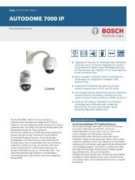 AUTODOME 7000 IP - Bosch Security Systems