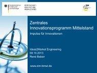 Zentrales Innovationsprogramm Mittelstand (ZIM ... - Dresden exists