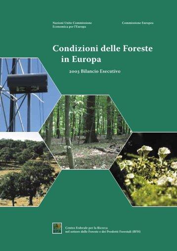 Condizioni delle Foreste in Europa Centro Federale per - ICP Forests