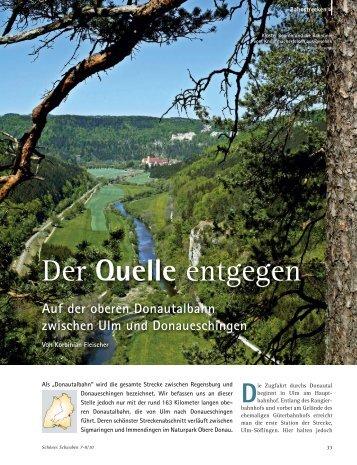 Auf der oberen Donautalbahn zwischen Ulm und ... - 3 Löwen Takt