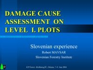 DAMAGE CAUSE ASSESSMENT ON LEVEL I. PLOTS - ICP Forests