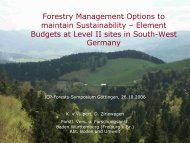 Forestry Management Options to maintain Sustainability - ICP Forests
