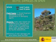 BIOTIC DAMAGES IN SPAIN - ICP Forests