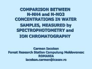 Comparison between n-nh4 and n-no3 concentrations - ICP Forests