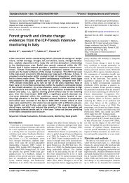Forest growth and climate change - ICP Forests