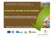 Long-term storage of soil samples - ICP Forests