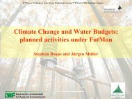 Climate Change and Water Budgets: planned activities ... - ICP Forests