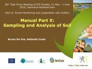 26th Task Force Meeting of ICP Forests, 31 May - 1 June 2010 ...