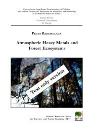 Atmospheric Heavy Metals and Forest Ecosystems - ICP Forests
