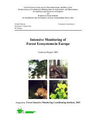 Intensive Monitoring of Forest Ecosystemsin Europe - ICP Forests