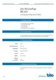 Technisches Datenblatt BR 243 - Bito AG