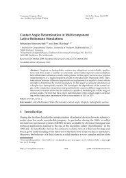 Contact Angle Determination in Multicomponent Lattice Boltzmann ...
