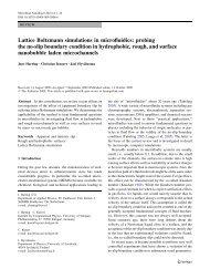 Lattice Boltzmann simulations in microfluidics - Institute for ...