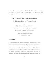 Old Problems and New Solutions for Multiphase Flow in Porous ...