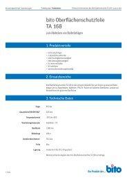 Technisches Datenblatt TA 168 - Bito AG