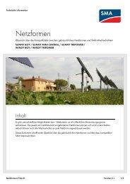 Netzformen - SMA Solar Technology AG