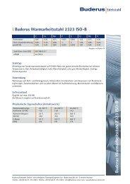 Buderus W armarbeitsstahl 2323 ISO-B l ... - Buderus Edelstahl Gmbh