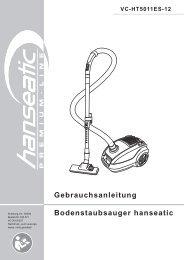 Gebrauchsanleitung Bodenstaubsauger hanseatic