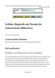 Leitlinie: Diagnostik und Therapie der Schistosomiasis ... - AWMF