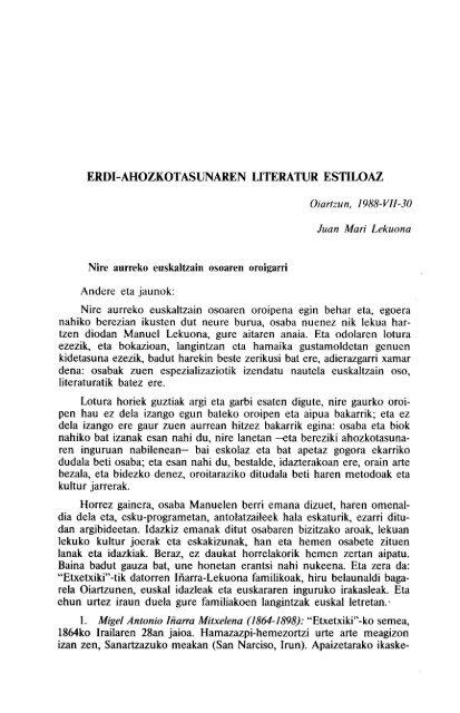 ERDI-AHOZKOTASUNAREN LITERATUR ESTILOAZ - Euskaltzaindia