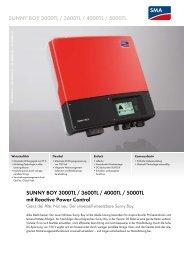 Sunny Boy 3000TL / 3600TL / 4000TL / 5000TL - SMA Solar ...