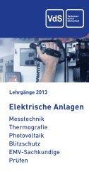 Lehrgänge Elektrische Anlagen 2013 - VdS