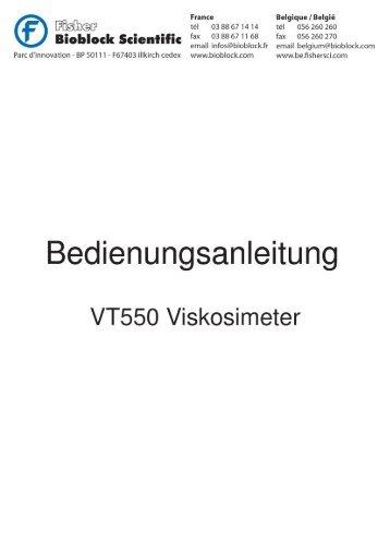 VT550 VISKOSIMETER - Fisher UK Extranet