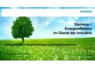 Siemens – Energieeffizienz im Dienst der Industrie