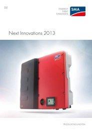 Next Innovations 2013 - SMA Solar Technology AG