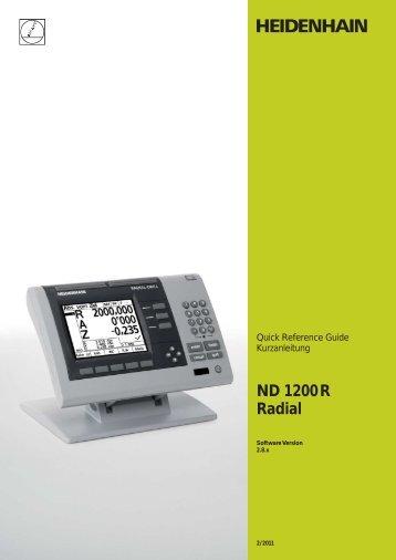 ND 1200 R Radial - Heidenhain.de