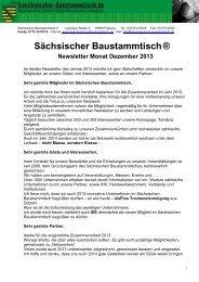 Newsletter Sächsischer Baustammtisch Dezember 2013
