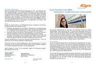 04/2013: Cryo-Technik in der NMR - AQura GmbH