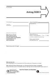 Antrag SGB II - Main-Taunus-Kreis