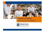 Produktinfo Mitgliederwerbung - DEHOGA Niedersachsen
