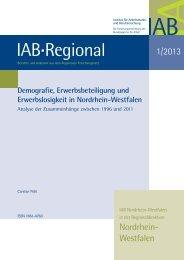 Demografie, Erwerbsbeteiligung und Erwerbslosigkeit in ... - IAB