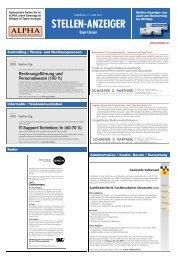 Rechnungsführung und Personalwesen (100 %) IT-Support ...