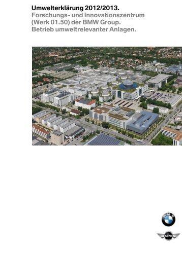 Umwelterklärung FIZ (PDF, 2,43 MB) - BMW Group