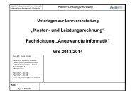 Kosten- und Leistungsrechnung - Fachhochschule Erfurt ...