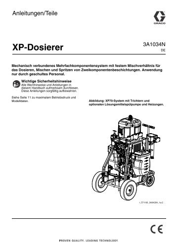 3A1034N - XP Proportioners, Instructions-Parts, German - Graco Inc.