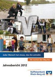 Jahresbericht 2012 - Raiffeisenbank Rhein-Berg eG