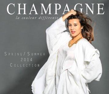 Champagne la couleur différente Summercollektion 2014