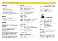 Coaching für Fachkräfte der Jugendarbeit Programm Ziele der ...