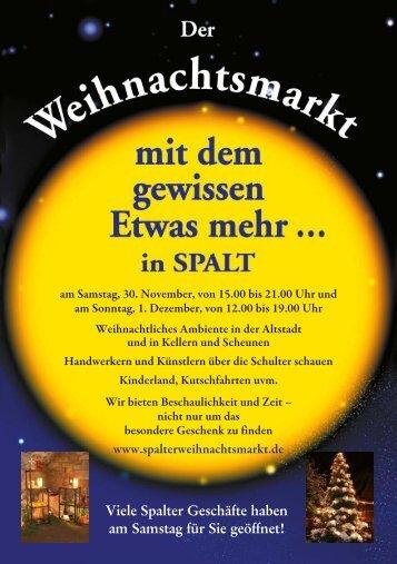 Spalter Weihnachtsmarkt - Strandhotel Seehof
