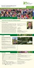 Deutscher Landschaftspflegetag 2013 Wir lieben Landschaft!